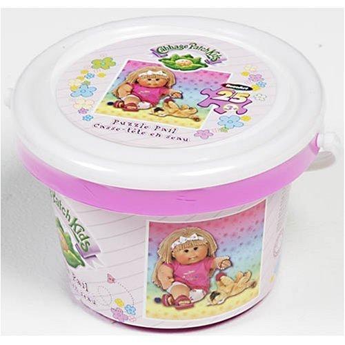 Cabbage Patch Kids Puzzle Pail Featuring 25 Piece Girl with Kitten Puzzle (Cabbage Patch Puzzle)