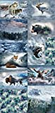 Breeze/Animal Medley Extra Large Fabric Panel - Call of The Wild Digital Print - 42'' x 88'' - 100% Cotton Quilt Fabric