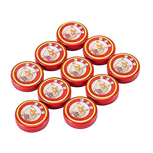 - Enshey 10pcs Essential Balm Oil Tiger Head Cooling Ointment Oil QingLiangYou for Headache Carsickness Mosquito Bites