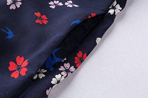 Numéro 9 Robe Vintage Collier Floral Oiseau Bleu Mode Tailles 8-20 / S-5xl.