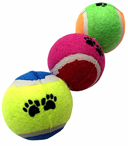 GoodPooch 3pc High Quality Pet Tennis Balls Fetch Throw Chew Dog Balls Toys