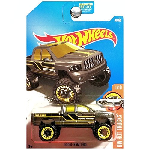Hot Wheels 2017 HW Hot Trucks Dodge Ram 1500 33/365, Dark - Ram Wheels Hot Dodge