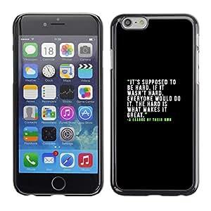 """For Apple iPhone 6 / 6S (4.7 inches!!!)/6S (4.7 INCH) Case , Motivación inspirada texto verde"""" - Diseño Patrón Teléfono Caso Cubierta Case Bumper Duro Protección Case Cover Funda"""