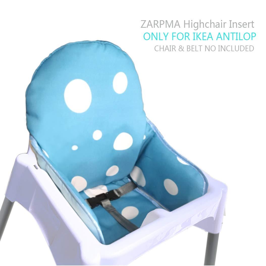 Zarpma Ikea Antilop Coussin de chaise haute, nouvelle version bébé Chaise haute Housses de siège, Plus épais, lavable et pliable, chaise enfant Insert Tapis de rembourrage nouvelle version bébé Chaise haute Housses de siège