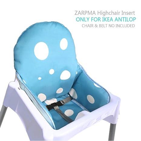 Zarpma Ikea Antilop Coussin De Chaise Haute Nouvelle Version Bébé Chaise Haute Housses De Siège Plus épais Lavable Et Pliable Chaise Enfant Insert
