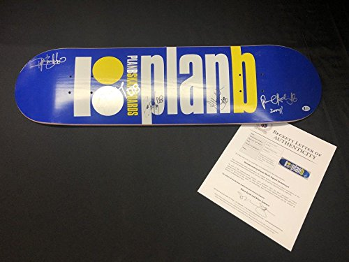 Ryan Sheckler Paul Rodriguez Colin McKay Pat Duffy Signed Plan B Skateboard BAS - Beckett Authentication