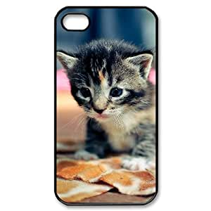 For Ipod Touch 5 Case Cover , Cute Girly & Cheap Black Tabby Cat Kitten For Ipod Touch 5 Case Cover {Black}