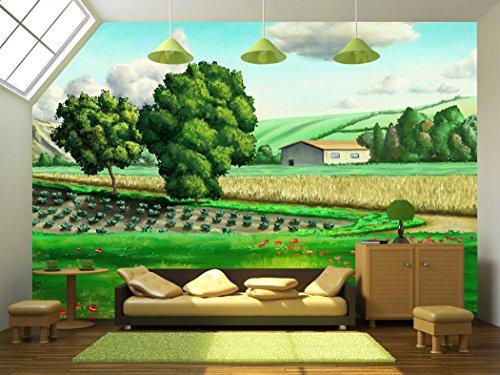Italian Rural Landscape Original Digital Painting