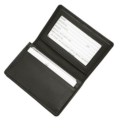 Royce Leather Executive Business Card Case in Genuine Leather - (Gusseted Business Card Case)