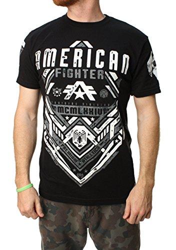 American Fighter Men's Miller Short Sleeve Panel Tee Black T-Shirt