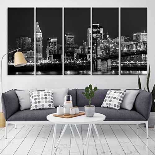 Cincinnati Skyline Canvas Print, Cincinnati Wall Art Canvas Print For Home  Decor And Living Room