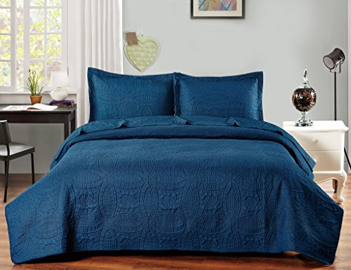 De Moocci Pinsonic Coverlet Sets-Chinese Coin design-Classic Pinsonic Stitching front and back