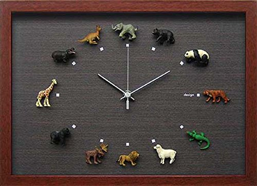 JIG Design Clock(デザイン クロック) Wildlife-1 陸の生き物 CDC-50930 B00L4T3I3M