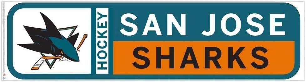 San Jose Sharks 90x23 Team Repositional Wall Decal Design 56