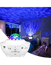Star Projector, 3 in 1 Ocean Wave Projector Star Sky Night Light LED Nebula Cloud with Bluetooth Music Speaker & Timer Function for Christmas /Kids Bedroom/Game Rooms/Home Theatre/Room Decor/Night Light Ambiance