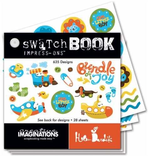 Swatch Book Rub (Creative Imaginations Helen Dardik Cutie Pie Boy Impress-Ons Swatch Book Rub-Ons)