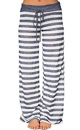 Striped Wide Leg Trousers - 4