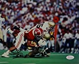 Cornelius Bennett Signed Photo - 8x10 Alabama Sack vs Notre Dame W Auth - JSA Certified - Autographed NFL Photos