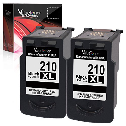 Valuetoner Remanufactured Ink Cartridge Replacement for Canon PG-210XL PG 210XL PIXMA IP2700 IP2702 MP230 MP240 MP250 MP270 MP280 MP480 MP490 MP495 MP499 MX320 MX330 MX340 Printer (Black,2 Pack)