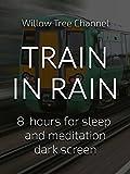 Train in rain, 8 hours for Sleep and Meditation, dark screen