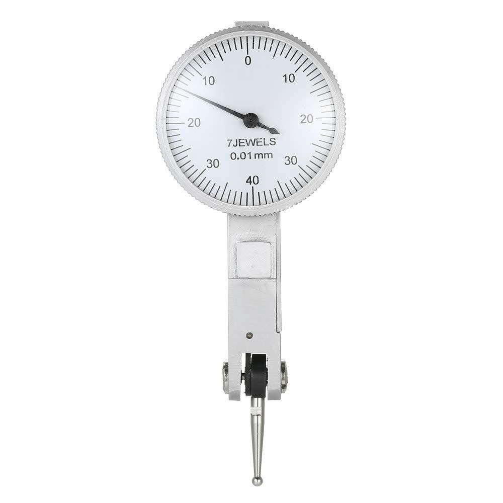 KKmoon Levier Cadran, Indicateur Pré cision Antichoc Indicateur de Levier 0-0.8mm Pré cision 0.01mm Indicateur Précision Antichoc Indicateur de Levier 0-0.8mm Précision 0.01mm