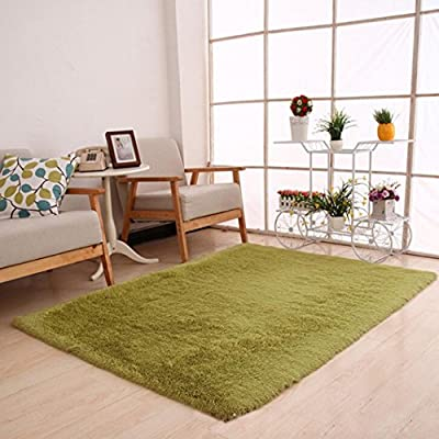 Area Rug?Leegor 80 x 120cm Fluffy Rugs Anti-Skid Shaggy Area Rug Dining Room Home Bedroom Carpet Floor Mat