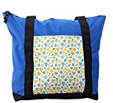 Lunarable Baby Shower Shoulder Bag, Owls Clouds Giraffe, Durable with Zipper