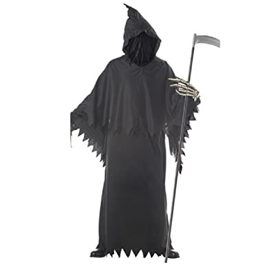 death costume men halloween deluxe scary ghost cosplay robe suits black m - Amazon Halloween Costumes Men