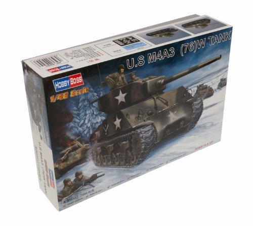 (Hobby Boss US M4A3 76 (W) Tank Vehicle Model Building Kit)