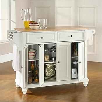 Amazon Com Crosley Furniture Natural Wood Top Kitchen