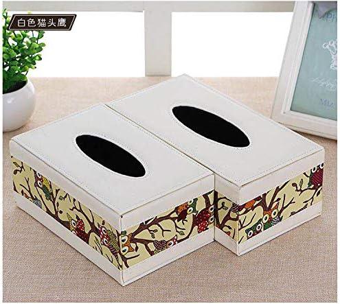 T-ZJHC Caja de pañuelos, Bandeja, Caja de Papel del Hotel, búho Blanco, Mediano (20 * 12.5 * 8.5 CM): Amazon.es: Hogar