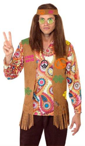 Hippy Kit (Smiffy's Hippy Male Instant Kit, Multi, One Size)