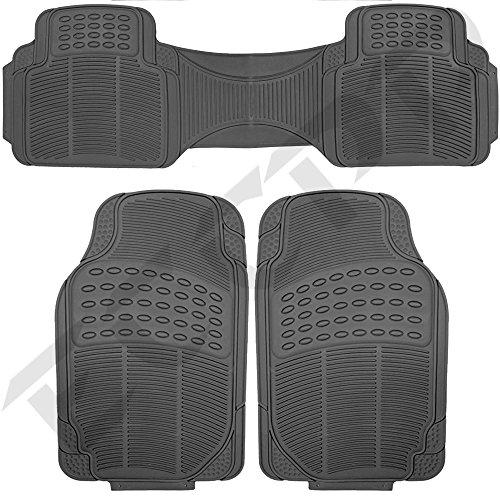 ECCPP® Floor Mats for SUVs Trucks Vans 3pc Set All Weather Rubber Semi Custom Fit Black (Rain Guards 2006 Grand Prix compare prices)