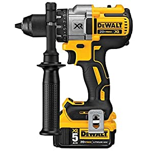 DEWALT DCK299P2 20V MAX XR 5.0Ah Premium Cordless Hammerdrill & Impact Driver Combo Kit with DWST08203H Tough System Case, Large