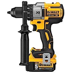 DEWALT DCK299P2 20V MAX XR 5.0Ah Premium Cordless Hammerdrill & Impact Driver Combo Kit with DEWALT DWA2FTS100 Screwdriving and Drilling Set, 100 Piece