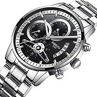 [Patrocinado] Analógico de Cuarzo para Hombre relojes de moda reloj de acero inoxidable resistente al agua Cronógrafo Business reloj de pulsera
