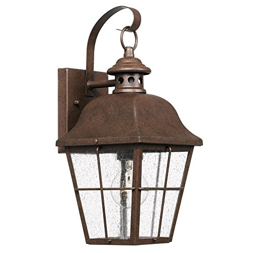 (Quoizel MHE8406CU Millhouse Outdoor Wall Sconce, 1-Light 100 Watts, Copper Bronze)