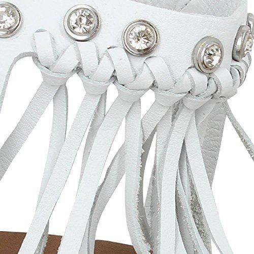 INUOVO 6045 de piel para mujer, color blanco Blanco - blanco