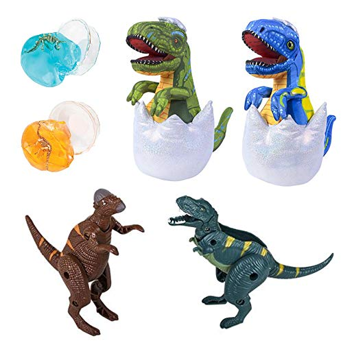 Stuffed Dinosaur T-Rex Eggs, Slime and Toys 6 Piece for sale  Delivered anywhere in USA