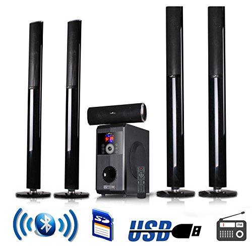 beFree Sound 5.1 Channel Surround Sound Bluetooth Speaker System – 1 Year Direct Manufacturer Warranty