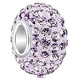 925 Sterling Silver Jan-Dec Birthstone Charms Swarovski Elements Crystal Sale Bead Fit Pandora Bracelet(Alexadrite June Birthstone)