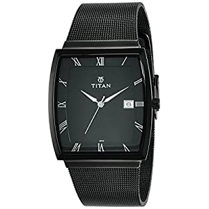 Titan Classique Analog Black Dial Men's Watch NL90076NM01W / NL90076NL01W