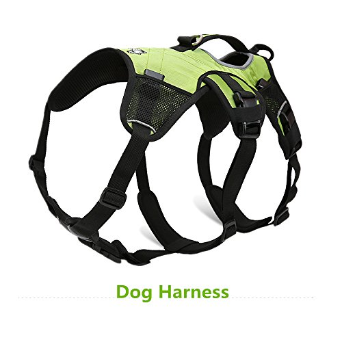 Pettom Dog Backpack Adjustable Saddlebag Outdoor Travel Pet Bag Made of Waterproof Oxford Material- Used As Dog Vest Harness As Well