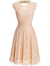 DresstellsWomen's Elegant Open Back Lace Cocktail Dress for Special Occasions
