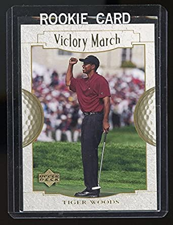 Amazoncom 2001 Upper Deck Victory March 151 Tiger Woods Rookie