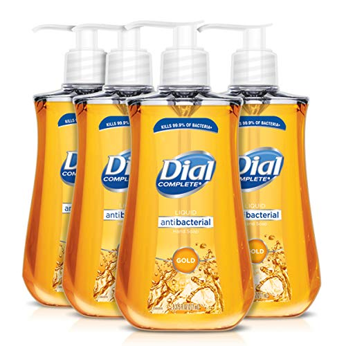 (Dial Antibacterial Liquid Hand Soap, Gold, 9.375 Ounce (Count of 4))