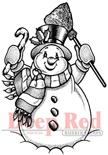 Deep Red Stamps Frosty The Snowman Rubber Stamp ()