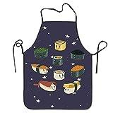Fimaliy Fashion Japanese Sushi Cute Chef Apron