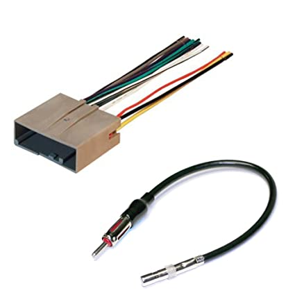 amazon com car stereo cd player wiring harness wire aftermarket Auto Wiring Harness Kit image unavailable