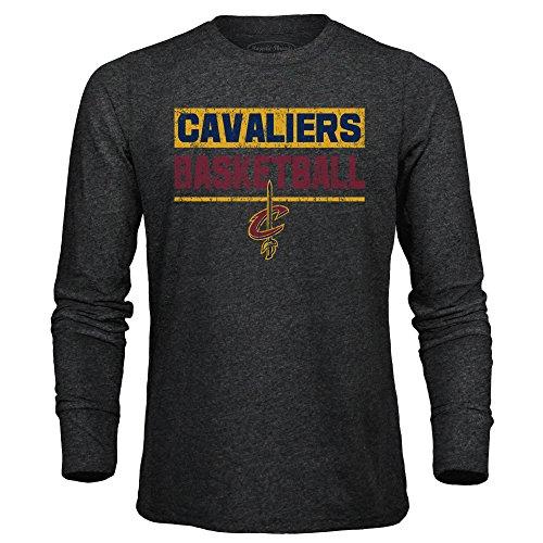 Nba Cleveland Cavaliers Mens Premium Triblend L S Tee  X Large  Black